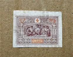 Timbre  République Française OBOCK 4 Centimes
