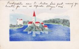 Yugoslavia - Lot 4 Different Art Postcards 1935 - Yugoslavia