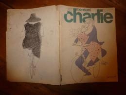 Sept 1977 CHARLIE MENSUEL :« Journal Plein D'humour Et De Bandes Dessinées, » Dont Sempé , Cabu, Etc - Wolinski