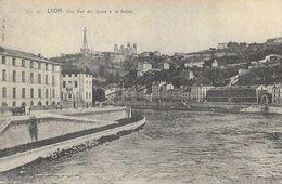 Lyon - Une Vue Des Quais De La Saône - Carte Précurseur P.M. Non Circulée - Other