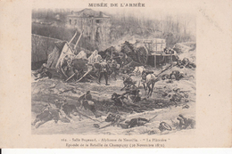 """G , Cp , HISTOIRE , MUSÉE DE L'ARMÉE , Salle Bugeaud , A. De Neuville , """"La Plâtrière"""" , Bataille De Champigny (1870) - Geschiedenis"""