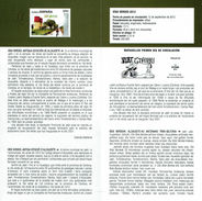 Voies Vertes - OLD STATION ALCAUDETE - DOCUMENT INSTRUCTIF DE L´ÉMISSION DE TIMBRE ESPAGNE - España