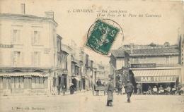 33-2049 CPA   LIBOURNE  Rue Saint James  Vue Prise De La Place Des Casernes  ANIMATION     Belle Carte - Libourne