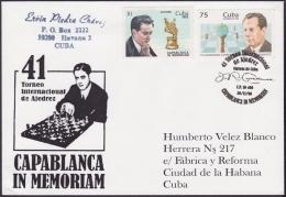 1996-CE-5 CUBA 1996 SPECIAL CANCEL CAPABLANCA CHESS IN MEMORIAM 41 TORNEO AJEDREZ. - Cartas