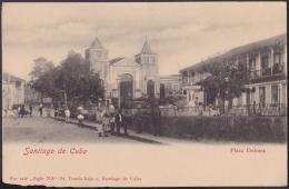 POS-200 CUBA CIRCA 1920 SANTIAGO DE CUBA. PLAZA DOLORES. DOLORES SQUARE. - Cuba