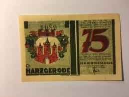 Allemagne Notgeld Harzgerode 75 Pfennig 1921 NEUF - [ 3] 1918-1933 : Weimar Republic