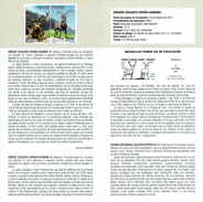 EMISSION JOINT ESPAGNE-RUMANIE - CERF ROUGE - Bouquetins - DOCUMENT INSTRUCTIF DE L´ÉMISSION DE TIMBRE ESPAGNE - España