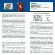 NOËL - ADORATION AU ENFANT - MATERNITÉ - DOCUMENT INSTRUCTIF DE L´ÉMISSION DE TIMBRE ESPAGNE - España