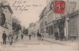 CPA 77 CHAMPS SUR MARNE Rue De Paris Garage Moto Naphta - Unclassified