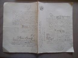 13 FEVRIER 1868 ACTE D'ADJUDICATION TERROIR DE LEVAL NORD A M.AUGUSTIN FRANCOIS DHAUSSY INSTITUTEUR PAR CONSORTS LAMBRET - Manuscrits