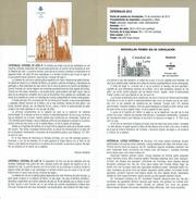 CATHÉDRALE DE LION LEON - DOCUMENT INSTRUCTIF DE L´ÉMISSION DE TIMBRE ESPAGNE - España