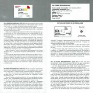 SOMMET LATINO-AMERICAIN - CADIX CADIZ - DOCUMENT INSTRUCTIF DE L´ÉMISSION DE TIMBRE ESPAGNE - España
