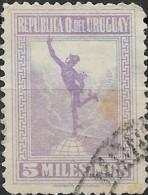 URUGUAY 1921 Mercury - 5m. - Mauve  FU - Uruguay