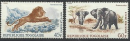 TOGO PA 81 Et 82 Poste Aérienne Neuf Avec Chanière éléphant Lion - Togo (1960-...)