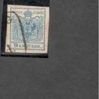 """Austria1850: 5 IIIb With 2 Damaged Letters In The Word """"Stempel"""" Cat.Value 30Euros - Briefe U. Dokumente"""