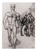 TOM OF FINLAND GAY INTEREST POSTCARD 52 -  SIZE: 15X10 CM. APROX. MINT - Cómics