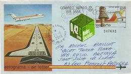 Aerogramme Air Letter (Aéroport Madrid-Barajas),  Adressé ANDORRA, Avec Timbre à Date Arrivée - 1931-....