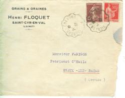 FLOQUET - LOIRET . 1937 - C 50+15, CREUSE - AMB. VIERZON A .......... - Francia