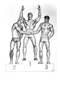 TOM OF FINLAND GAY INTEREST POSTCARD 73 -  SIZE: 15X10 CM. APROX. MINT - Cómics