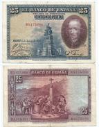 España - Spain 25 Pesetas 1928 Ref 670-6 - 1-2-5-25 Pesetas