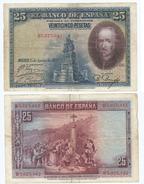 España - Spain 25 Pesetas 1928 Pick 74.c Ref 670-5 - 1-2-5-25 Pesetas