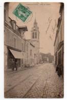 CPA - SAINT-GRATIEN - RUE DE L´EGLISE - BOULANGERIE - PATISSERIE - Animée - N/b - Vers 1910 - - Saint Gratien