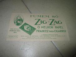 Papier à Cigarettes ZIG ZAG Publicitaire Papier Paper Portugal - Advertising Items