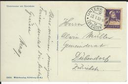 SBK 184, Mi 204 Unterwasser 25.1.1932 - Lettres & Documents