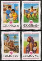 Ghana MiNr. 805/08 A ** Jahr Des Kindes - Ghana (1957-...)