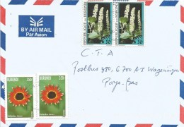 Burundi 2006 Mayania Flower Phytolacca 30f Helianthus 350f Cover - Burundi