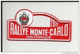 "Petite Plaque Rallye ""MONTE CARLO HISTORIQUE"" 2011 - Plaques De Rallye"