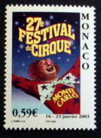 MONACO # 2280.  0,59€, 27th International Circus Festival. MNH (**) - Unused Stamps