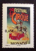 MONACO # 2352.  0,45€, 29th International Circus Festival. MNH (**) - Monaco