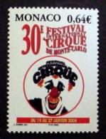 MONACO # 2402.  0,64€, 30th International Circus Festival. MNH (**) - Unused Stamps