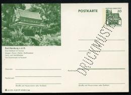 Bund P89 A23/179 Bild-Postkarte DRUCKMUSTER BAD HOMBURG 1966  Kat. 15,00 € - Illustrated Postcards - Mint