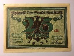 Allemagne Notgeld Urnstadt 25 Pfennig 1921 NEUF - [ 3] 1918-1933 : République De Weimar