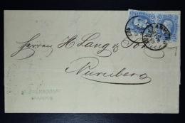 Belgium Letter OPB Nr 2* 31 Antwerp To Neurenburg Germany 1874 - 1869-1883 Leopold II.