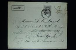 Belgium Cover OPB Nr 35 Chénee To New York To Yersey City  1883 - 1883 Léopold II