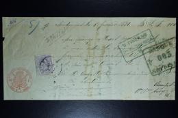 Belgium Effetts De Commerce Receipt OPB Nr 36  1881 (cat Value On Letter 800 Euro) - 1883 Léopold II