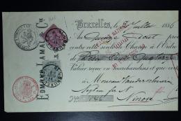 Belgium Effetts De Commerce Receipt OPB Nr 38 + 39 1886 - 1883 Leopold II