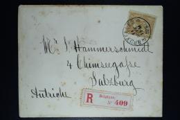 Belgium Registered Letter OPB Nr 50 Bruxelles To Salzburg Austria  1883