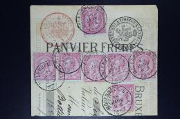 Belgium  Fragment OPB Nr 46 * 7  Molenbeek 1887