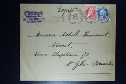 Belgium Letter  OPB Nr 74 + 75  Express Bruxelles Local Octagonal Cancel 1910 - 1905 Grosse Barbe