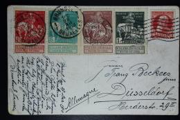 Belgium  Postcard 1910 OPB Nrs 88 - 91 + 74  Bruxelles To Düsseldorf - 1910-1911 Caritas