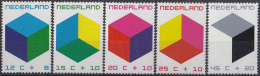 Nederland - Kinderzegels - Cubistische Constructies - MNH - NVPH 978-982 - Periode 1949-1980 (Juliana)