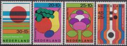 Nederland - Zomerzegels - Floriade - Vruchten/Gestileerde Bloem/Zon Over Land/Muziek - MNH - NVPH 1003-1006 - Periode 1949-1980 (Juliana)
