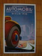 Werbekarte Internationale Automobil- Und Motorrad-Ausstellung Berlin 1938, Mit Passendem Sonderstempel !! - Ansichtskarten