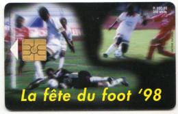 MAURICE Ref MV Cards MAU-35  240 U COUPE DU MONDE DE FOOTBALL 98 30 000 Ex - Mauritius