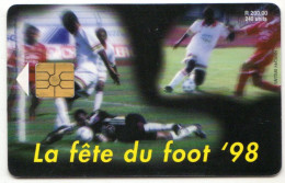 MAURICE Ref MV Cards MAU-35  240 U COUPE DU MONDE DE FOOTBALL 98 30 000 Ex - Maurice