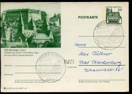 KLOSTER ELLWANGEN Bund P91 B5/33 Bild-Postkarte Sost. FREDEBURG 1967 - Klöster